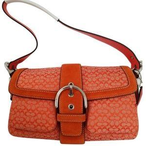 Vintage Coach reversible strap shoulder bag